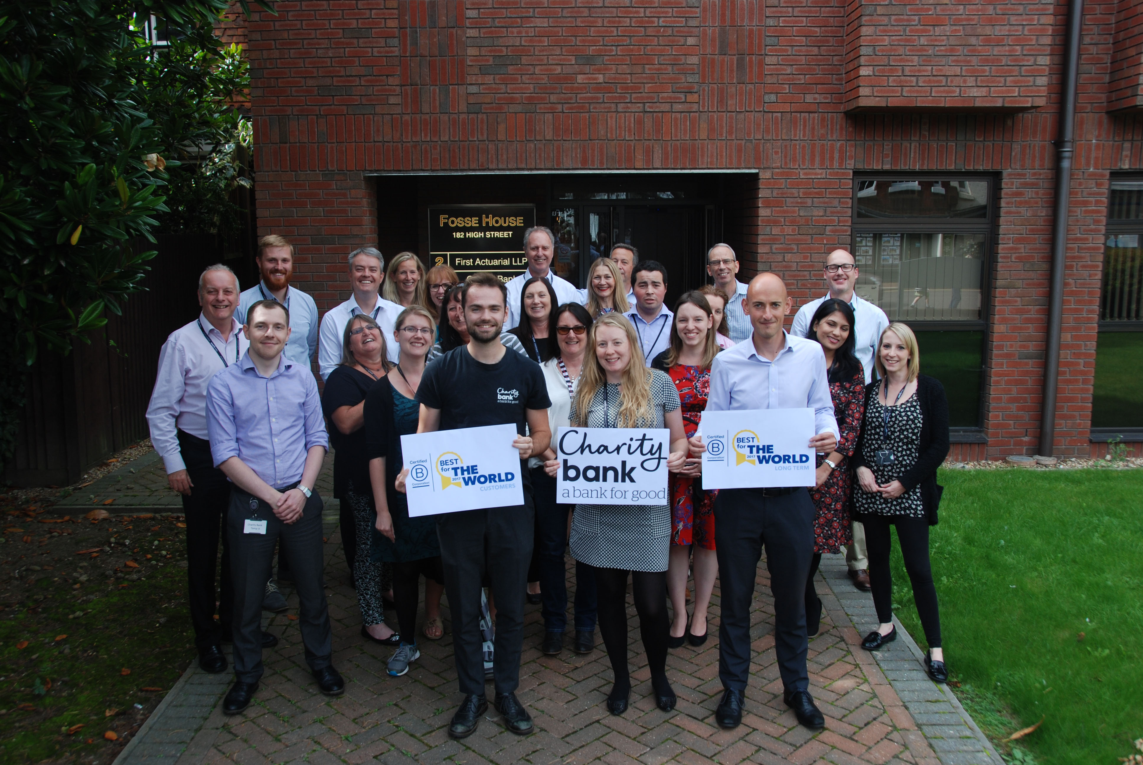 Charity Bank Staff Celebrate Being Named Among Best For The World In Global Business Honours