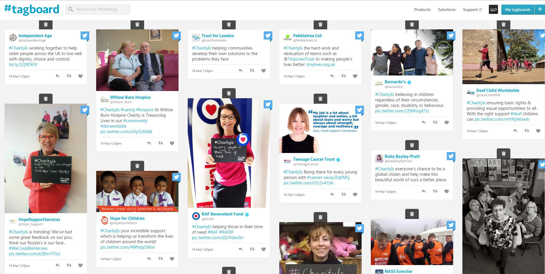 CharityIs-tagboard-snapshot-day-1